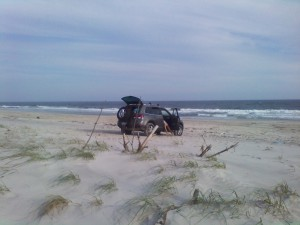 Smith Point County Park is that rare location where you can take off-road vehicles onto the beach with a permit.