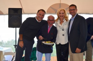 Michael Setola of Greg Norman Collections, Marty Hackel (Golf Digest, The Golf Channel) and Joe Abruzzo