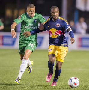 The Red Bulls did all they could to fend off the Cosmos at Hofstra University's James Shuart Stadium.