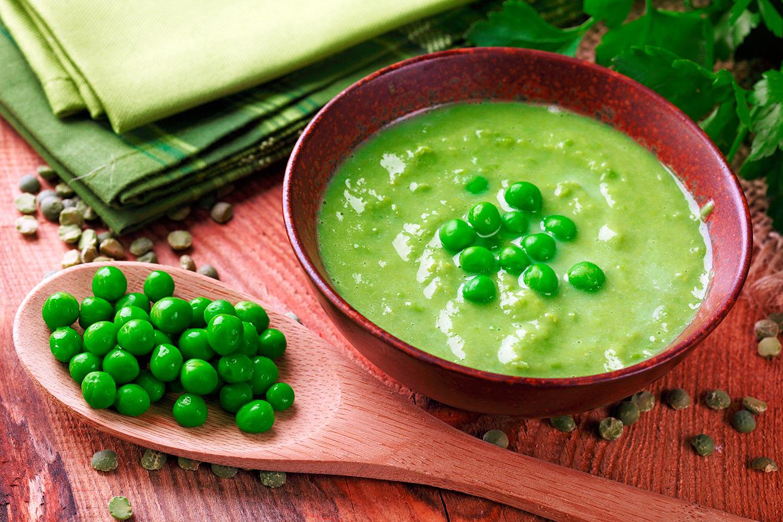 Суп с зелёным горошком замороженным рецепт