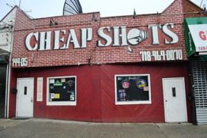 See a packed, captive and cheering audience root for their favorites and underdogs at Flushing's Cheap Shots Sports Bar.