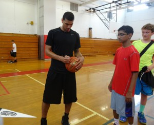 Danny Green was more than happy to give autographs at his recent basketball camp.