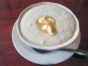 The hominy used in the grits made at LL Dent are of a finer consistency than the traditional kind.