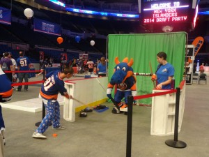 The New York Islanders provided plenty of activities for attendees at the team's last draft party at Nassau Coliseum. (Photo by Aaron Cheris)