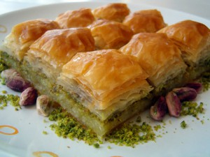 Baklava is of the typical traditional desserts cooked onsite at Greek Corner.