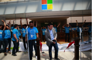 Microsoft retail stores opened its 98th store at Roosevelt Field Mall