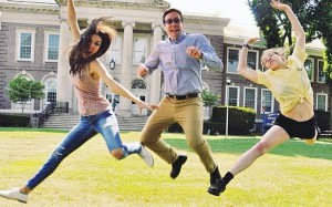 Happy to be in Great Neck (from left to right): Victoria Justice, director Peter Hutchings and Eden Sher