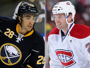 Matt Moulson and Thomas Vanek's paths cross again as Moulson is leaving the Wild while Vanek is coming aboard to the tune of three years $19.5 million