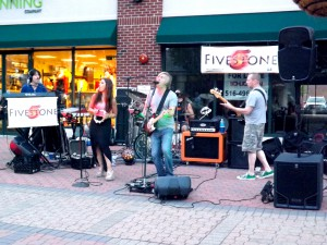 Fivestone tearing it up during the Friday Night Promenade. (Photo by Amanda Mullen)