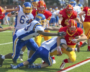 The Chaminade Flyers beat the Kellenberg Firebirds 31-13 on Saturday, Sept. 6. (Photos by Geoffrey Walter)
