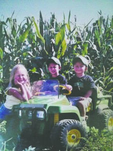 Meyers Farm Fifth generation of Meyers kids out in the field