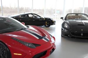 The second floor of the Plainview Ferrari Maserati of Long Island dealership. (Photos by Alex Nunez)