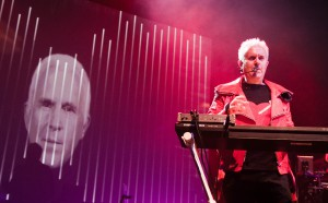 Howard Jones has always favored making his live performances as interactive as possible not unlike at this April 2012 show in Newcastle, England. (Photo by Peter Fannen / howardjones.com)