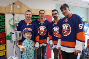 The New York Islanders brought smiles to the faces of young patients at Winthrop-University Hospital.