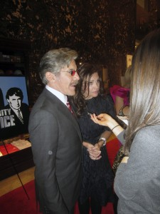 Geraldo Rivera with his wife Erica gets interviewed about how much his association with Garden City's Life's WORC has meant to him during his career.