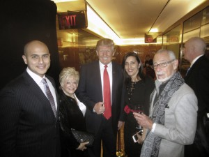 Celebrity Apprentice host Donald Trump congratulates Life's WORC representatives from left. Mark Salah Morgan , founder Victoria Schneps, Executive Director Janet Koch and board member Rick Del Mastro