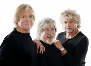 Moody Blues (from left): Justin Hayward, John Lodge, Graeme Edge (Photo by Mark Owens)