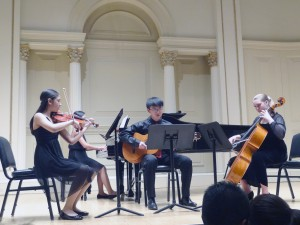 A quartet in action at the Music Institute of Long Island.
