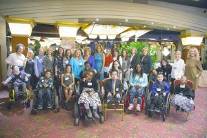 Hoda with students from the Henry Viscardi School and members of the Reach for a Star Luncheon Committee.