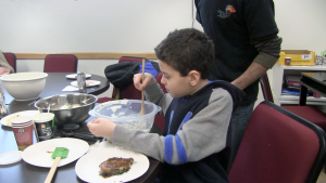 Cooking is one of the many activities attendees at the new Life's WORC Family Center for Autism can participate in