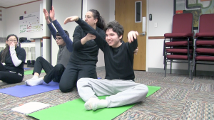 Exercise classes like yoga are offered at the Life's WORC Family Center for Autism