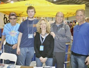 Expo staffers Nick Palazzo and Ryan Fitzpatrick, Expo Director Mindy Davidson, GLIRC, Marcum Workplace Challenge booth rep Jeff Bloch and volunteer Mike Fernandez