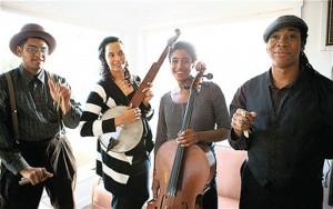 Carolina Chocolate Drops (from left): Dom Flemons, Rhiannon Giddens, Leyla McCalla, Hubby Jenkins