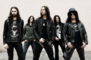 Slash (far right) featuring Myles Kennedy & The Conspirators