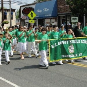 W.E. Howitt Middle School marching at last year's Farmingdale Memorial Day Parade