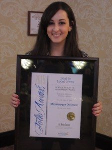 Massapequa Observer editor Jennifer Fauci won the Best in Local News Science, Health or Environment News category