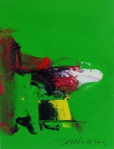 """""""Guppy Two"""" by Athos Zacharias of Springs with Lawrence Fine Art, Oil on paper, 20 x 15, 1998"""
