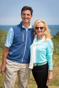 Ann Liguori, radio & TV personality & host of '17th Annual Ann Liguori Foundation Charity Golf Classic' with Friar's Head owner Ken Bakst (Photos by Tom Fitzgerald and Pam Deutchman /http://www.society-in-focus.com)
