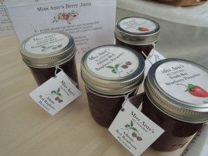 Miss Amy's Berry Jams can be found at the New Hyde Park market on Saturdays. (Photo by Christy Hinko)