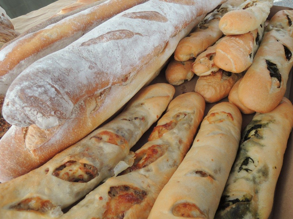 Find meat and vegetable stuffed breads by Joseph Marchisello of Monty Breads at the New Hyde Park market on Saturdays. (Photo by Christy Hinko)