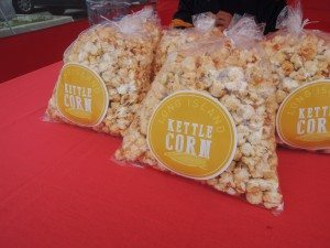 Long Island Kettle Corn of Port Washington at the Garden City courthouse market on Tuesdays and at the Roslyn market at Christopher Morley Park on Wednesdays. (Photo by Christy Hinko)