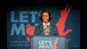 Let's Move! is an initiative founded by First Lady Michelle Obama to combat childhood obesity
