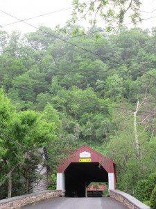 a covered bridge in Bucks County