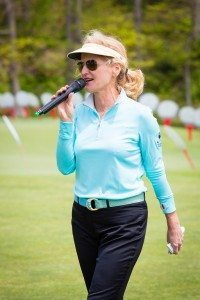 Radio and TV personality Ann Liguori, starting the day by hosting the '17th Annual Ann Liguori Foundation Charity Golf Classic' (Photos by Tom Fitzgerald and Pam Deutchman /http://www.society-in-focus.com)