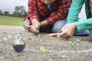 Marbles is one of a number of childhood games most kids don't play anymore.