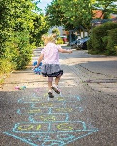 Hopscotch was one of many games children of a different generation spent playing during the summer