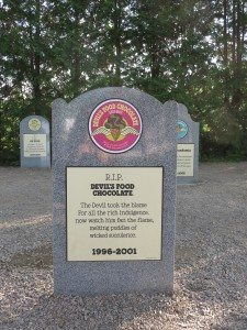 One of the deceased brands of Ben & Jerry's ice cream you'll find at the Flavor Graveyard