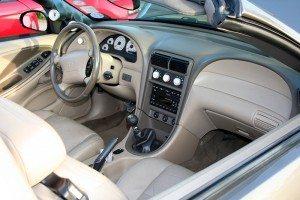 Convertible Mustang interior (Photo by Charlie J)