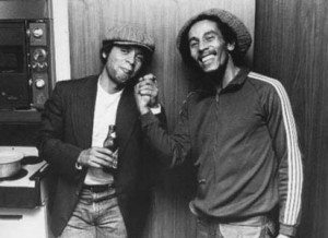 Jeffreys chilling backstage with his late friend Bob Marley