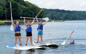 Stand up paddleboarding at the Waterfront Center in Oyster Bay (Photo courtesy of the Waterfront Center)