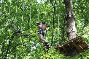 Climb through the trees at Long Island Adventure Park. (Photo courtesy of Long Island Adventure Park)