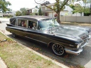 1960 Cadillac Hearst Outfitted with Halloween Animatronics