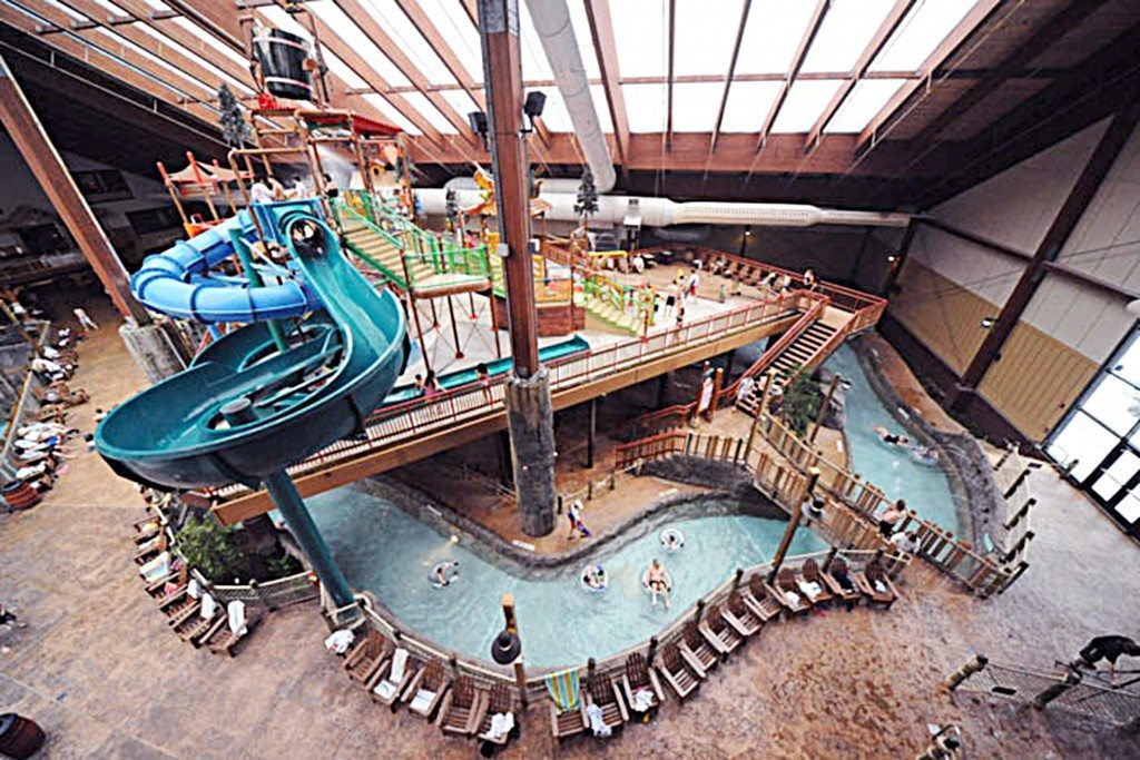 Six Flags Great Escape Lodge Indoor Waterpark offers 38,000 square feet of wet fun.