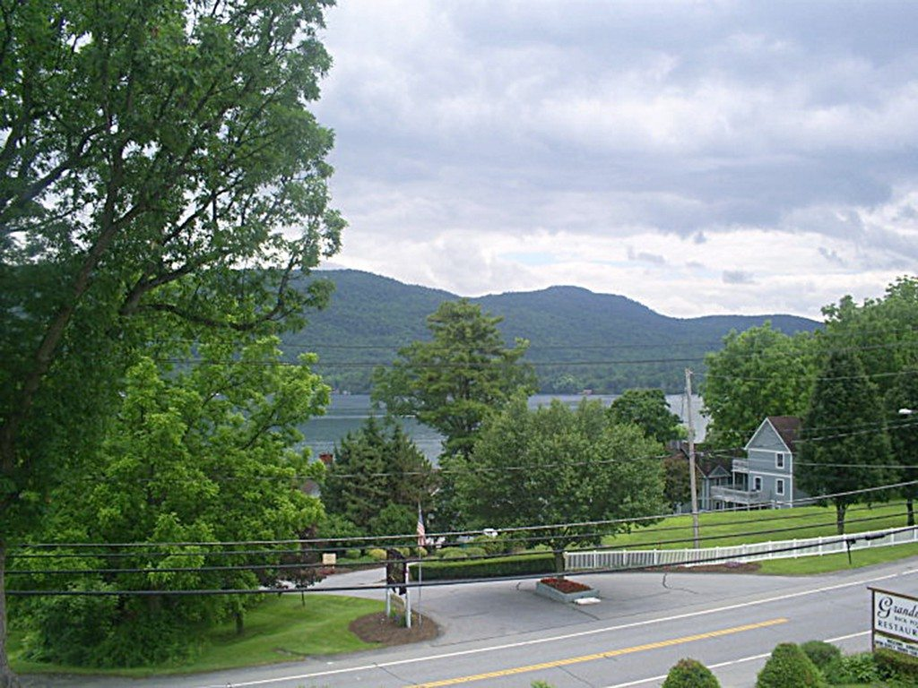 Enjoy a country breakfast overlooking the scenic, 32-mile-long Lake George at Grandma's Back Porch Restaurant.