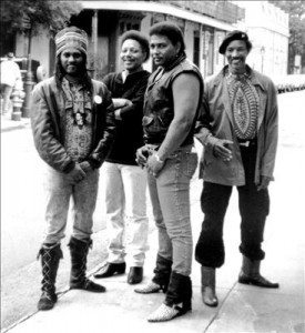 The Neville Brothers circa 1970s (Photo by Larry Williams)