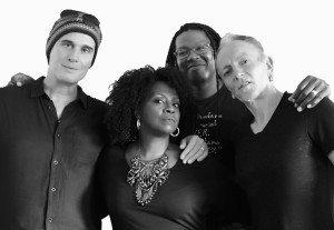 Delta Deep from left: Robert DeLeo, Debbi Blackwell-Cook, Forrest Robinson, Phil Collen